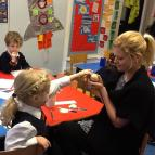 Baby Chicks in Reception