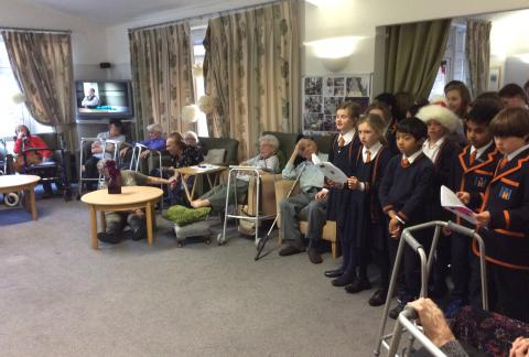 Choir visit to The Meadow Care Home