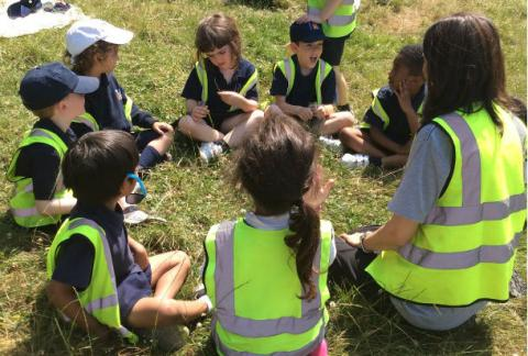 Nursery and Reception enjoy a Forest School Picnic