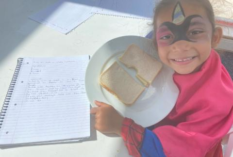 Form 1 write instructions and make sandwiches