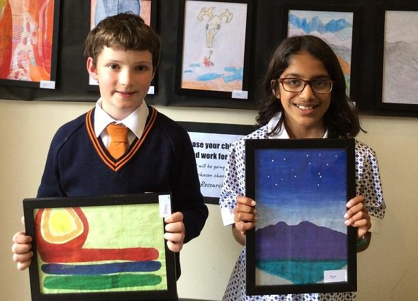Pupil artwork raises over £1,000 for Cancer Research UK