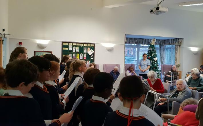 Form 5 & 6 Choir visit The Meadow Care Home