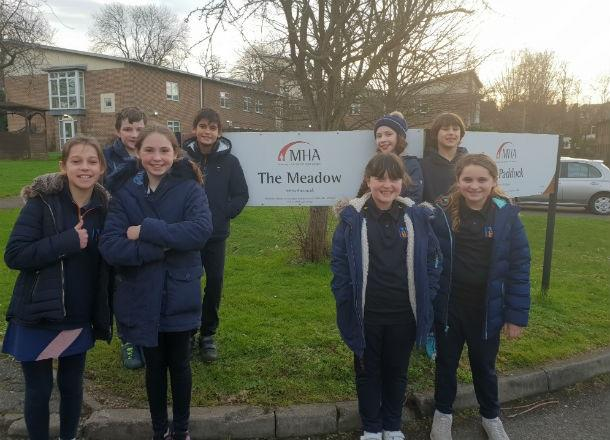 Pupils visit The Meadow Care Home