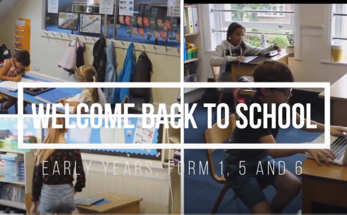 Welcome back to School: Early Years, Form 1, 5 and 6